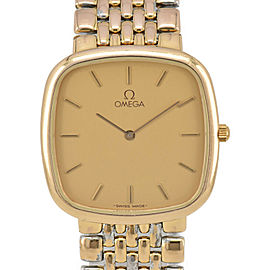 OMEGA de vill gold Dial Gold Plated Quartz Men's Watch