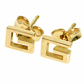 GUCCI 18K Yellow Gold G logo earring