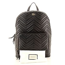 Gucci GG Marmont Pocket Backpack Matelasse Leather Medium