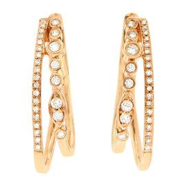 Effy 14 Rose Gold 0.50 Ct Rose Gold Double Hoop Earrings
