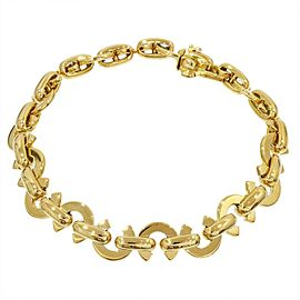 Chanel 18K Yellow Gold CoCo Logo Chain Link Bangle Bracelet