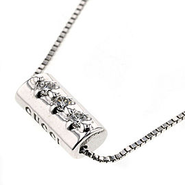 GUCCI 18K White Gold / diamond Diamantissima 3P Necklace