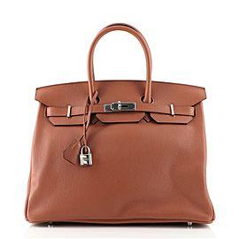 Hermes Birkin Handbag Cuivre Novillo with Palladium Hardware 35