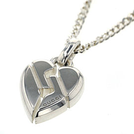 GUCCI 925 silver Knot heart Necklace