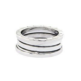 Bulgari 18K White Gold Ring Size 8.25