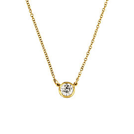 Tiffany & Co. Elsa Peretti 18K Yellow Gold with 0.37ct Diamonds By the Yard Pendant Necklace