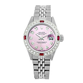 Rolex Lady Datejust 6917 26mm Womens Pink Diamond Dial and Bezel Vintage Watch
