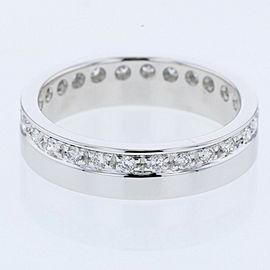 GUCCI K18 White Gold diamond Ring EU9.5 TBRK-352