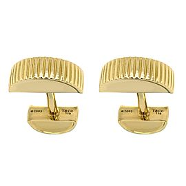 Tiffany & Co. 18 Karat Yellow Gold Cufflinks