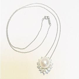 Tiffany Diamond&Pearl Pendant