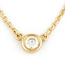 TIFFANY&Co. 18K yellow Gold Diamond Necklace