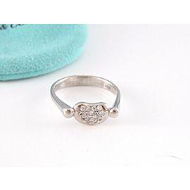 Tiffany & Co Platinum Peretti Bean Diamond Ring NST-950