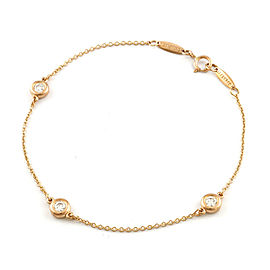 TIFFANY & Co. 18K Pink Gold Diamond By the Yard CHAT-975