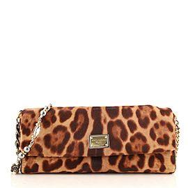 Dolce & Gabbana Miss Charles Flap Shoulder Bag Printed Pony Hair Small