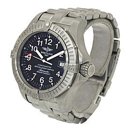 Breitling Avenger Seawolf E17370 Titanium Automatic 44mm Mens Watch