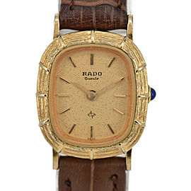 RADO 700.9039.2 gold Dial GP/Leather Quartz Ladies Watch