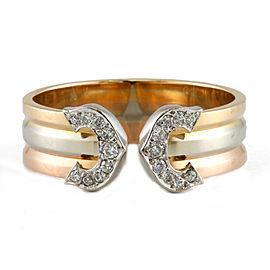 CARTIER 18K yellow gold/18K white gold/18K Pink Gold Diamond Ring
