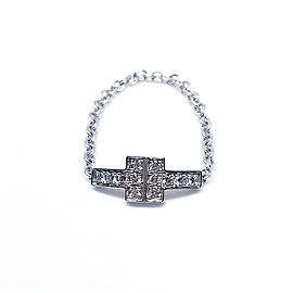 Tiffany & Co. Diamond T Chain Ring
