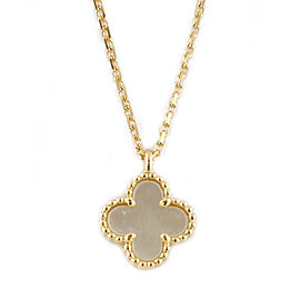 Van Cleef & Arpels 18K Yellow Gold Alhambra Necklace CHAT-972
