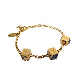 Louis Vuitton Brass & Rhinestone Bracelet