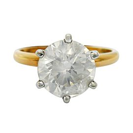 14K White Gold Solitaire Diamond Ring Size 7.5
