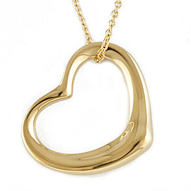 TIFFANY&Co. 18K yellow Gold Open heart Necklace CHAT-348