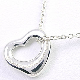 TIFFANY & Co. 925 Silver Elsa Peretti Open heart Necklace