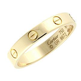 CARTIER 18K Yellow Gold Wedding Band Mini Love Ring