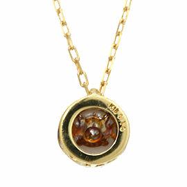 18k Yellow Gold Diamond Dancing Azuki Red Bean Necklace CHAT-102