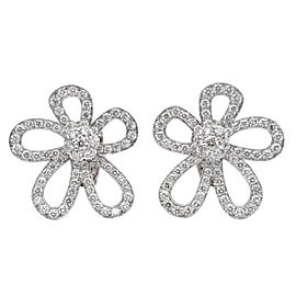 Van Cleef & Arpels Flowerlace Earclips 18K White Gold Diamond