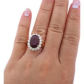 Ruby Diamond Gold Ring