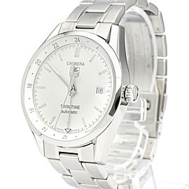 TAG HEUER Carerra Twin Time Steel Automatic Mens Watch WV2116