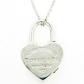 TIFFANY & Co. silver Heart Lock Pendant necklace