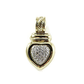 David Yurman 18K Yellow Gold .50tcw Pave Diamond Heart Enhance