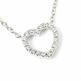 Tiffany & Co. 18K White Gold, Diamonds Metro Heart Necklace Pendant CHAT-168