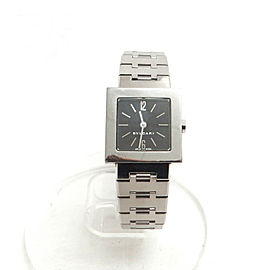 BVLGARI Stainless Steel Quadrato SQ22SS Quartz Wrist Watch TBRK-349