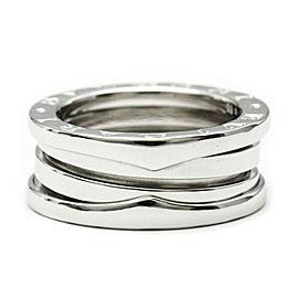 Polished BVLGARI 18K White Gold B-ZERO1 Ring