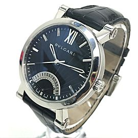 BVLGARI SB42SDR Stainlees Steel/leather Sotirio-Bulgari Retrograde Watch