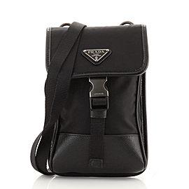 Prada Smartphone Case Crossbody Bag Tessuto with Saffiano Leather