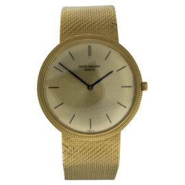 Patek Philippe Calatrava 3520DJ 18K Yellow Gold Manual Wind Mens Watch