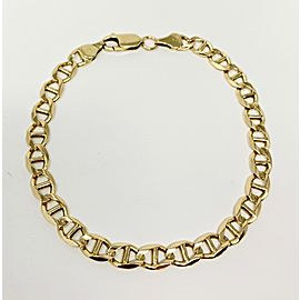 14k Yellow Gold Gucci Mariner Anchor Chain Link Bracelet