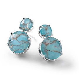 Ippolita Rock Candy Sterling Silver Clear Quartz and Bronze Turquoise Stud Earrings