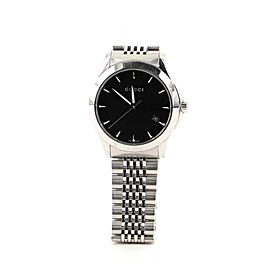 Gucci G-Timeless Diamante Date Quartz Watch Stainless Steel 38