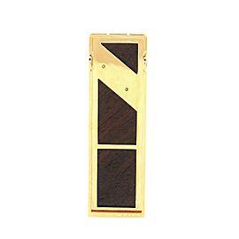 Mikimoto Rectangle Pendant Pendant & Charms 18K Yellow Gold with Wood and Diamonds