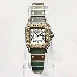 CARTIER SANTOS GALBEE 24mm Automatic 2 Tone 1.09TCW Diamond Watch