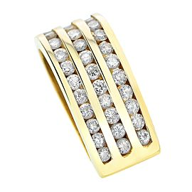 14K Yellow Gold Diamond Bale