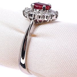 Ruby Platinum/Diamond Ring NST-390