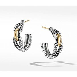 David Yurman Cable Loop Hoop Earrings with 18K Gold