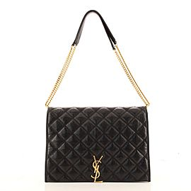 Saint Laurent Becky Shoulder Bag Quilted Leather Large