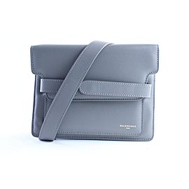 Balenciaga Belted 2balr0618 Grey Leather Shoulder Bag